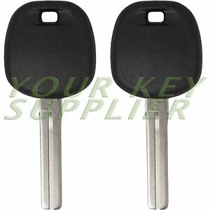 2 Replacement Transponder Ignition Chipped Car Key Blanks for Lexus Toy50-PT