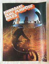 1977 KAWASAKI DUAL PURPOSE MODELS BROCHURE + KE250 POSTER! FREE USA SHIPPING!