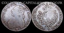 Ecu Louis XVI 1786I Limoges Branche d'Olivier Côte TB 100€ TTB 300€