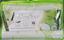 ORTHOPEDIC MEMORY FOAM BAMBOO CONTOUR PILLOW BREATHABLE ZIPPED WASHABLE COVER