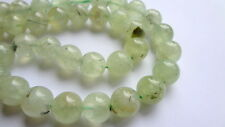 12mm Round Natural Prehnite Semi Precious Gemstone Beads - Half Strand