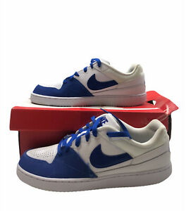 Nike Mens White/Blue Nike Court Vision Prioity Low Trainers Sz UK 9