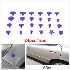 Carrosserie Paintless Dent Repair Hail Removal Tool 24pcs PDR Glue Puller onglets outil