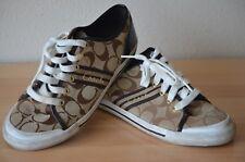 Coach Women's Folly 8B Tennis Shoes Brown/White Q1024 Signature Sneaker