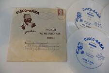 DISCO-BANA SELECTION BANANIA LOT 4X45T SOUPLE FLEXI + ENVELOPPE 1961 DISCO-BANA.