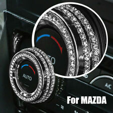 A Pair Of Air Condition Knobs Decorative Circle Trim For Mazda CX-4 CX5 2017-18