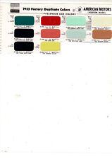 1955 Nash Hudson Hornet Metropolitan Ambassador Statesman Paint Paint Chips Msm4