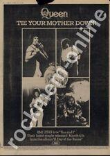 Queen Tie Your Mother Down! EMI 2593 '45 Advert 1977