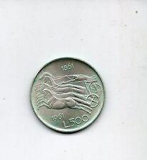 Moneta L. 500 Centenario Unità d'Italia Repubblica Italiana argento 1961 - B7