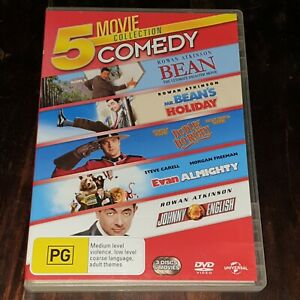 5 Movie Comedy Collection - Mr Bean, Dudley Do-Right, Evan Almighty, Johnny Engl