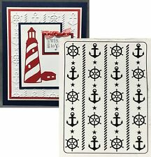 NAUTICAL Darice embossing folders 1219-209 anchor cruise Cuttlebug compatible
