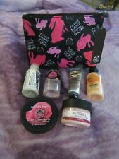 The body shop bundle-vitamin e,british rose,satsuma,vanilla marshmallow,towel