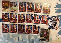 TOPPS UEFA CHAMPIONS LEAGUE 2020/21 SET OF ALL 19 BARCELONA STICKERS INC FOILS