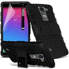 LG Spirit 4G LTE H440N Dual Layer Tough Shockproof Armour Case Cover Guard Skin