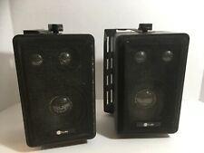 """Pair of In Studio Brand 4"""" 3-Way Indoor Outdoor Cabinet Speakers Model 4019998"""