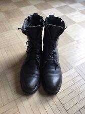 MOMA Stiefel / Schnürrstiefel mit Reisverschluss vintage schwarz Gr42