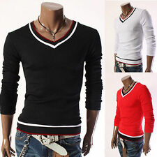 Long Sleeve Solid Personalized Tees for Men