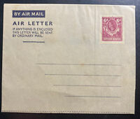 Mint Northern Rhodesia Postal Stationery Air Letter H&G#FG3