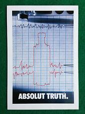Pubblicità Advertising Cartolina vodka (Italy) ABSOLUT TRUTH n 82/1067
