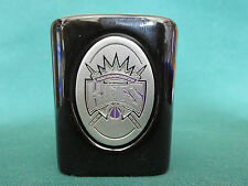 SACRAMENTO KINGS     BLACK WITH PEWTER EMBLEM        SHOT GLASS