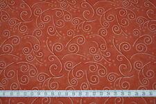 "Patchworkstoff - Moda ""Marble Swirl""- Orangerot-gemustert - Br.110cm - Meterware"