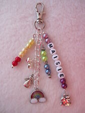 Personalised Rabbit / Pet Memorial Key / Bag Charm - Pet Loss  Rainbow Bridge