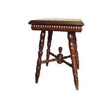 antiker Beistelltisch Tisch HISTORISMUS Teetisch mit Marmorplatte Vollsäulen