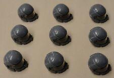 x9 NEW Lego Army Minifig Headgear Space Hat w/ VISOR Dark Bluish Gray