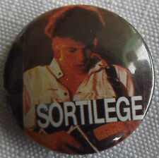 """SORTILEGE Vintage 25 Years Old 25mm-1"""" Button Pin Badge Heavy Metal #NB.105"""