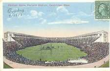 American Football Postcard - Game, Harvard Stadium, Cambridge, Mass 1916