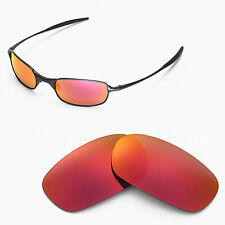 New Walleva Polarized Fire Red Lenses For Oakley Square Wire 2.0