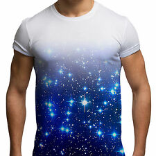Blue Galaxy All Over Print Fashion Holiday Hipster Summer Mens T Shirt