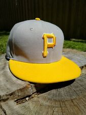 Pittsburgh Pirates Baseball Fitted 7 1/4 Yellow Gray Hat New Era 59FIFTY 57.7cm