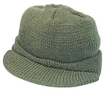 Military Jeep Cap Wool Hat Olive Drab USA Made Rothco 7709