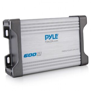 Pyle PLMRMP4A Waterproof 1200 W 4 Channel Marine Power Audio Amplifier (2 Pack)