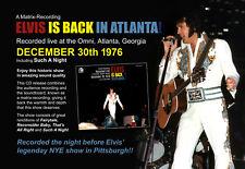 Elvis Collectors CD - Elvis Is Back In Atlanta