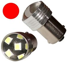 2x ampoule P21W R5W R10W 12V 6LED SMD rouge base 1156