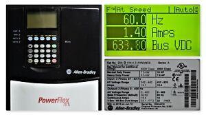 2012 Allen-Bradley PowerFlex 70 10 HP 20AD014A3AYNANC0  FRN 5.001Tested Good