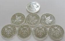 2008, 2009, 2010 Canada 1 oz. 9999 Fine Silver Bullion Lot of 8 Coins