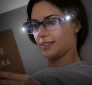 Pack de 2 clips orientables 360º LED pour lunettes pour lecture bricolage