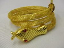 Cleopatra Asp Bracelet ~ Egyptian Queen ~ pharaoh ~ Snake Bangle Costume Jewelry