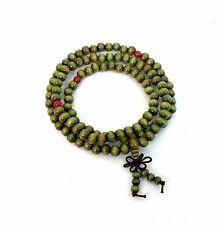 Sandalwood 108 Prayer Bead Mala Bracelet Necklace Buddhist Meditation 6mm Green