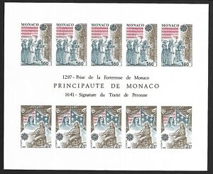 SMT, Monaco,1982, Europa-Cept, souvenir sheet IMPERFORATE, MNH, CV € 350