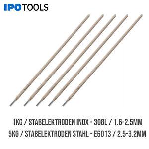 Stabelektroden Stahl Edelstahl Schweißelektroden Ø1,6-3,2mm E6013 E308L 1kg 5kg