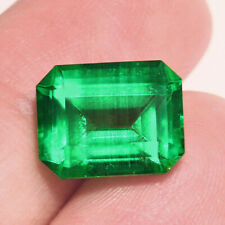 4.24Ct Colombian Emerald Octagon Collection Color Enhanced QMDa530