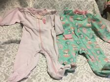 Toddler Clothes Lot 465-  2 Owl Sleepers- 3M