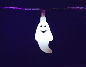 LED White Ghost Lights 1.3m- Great for Halloween Parties and Decorations