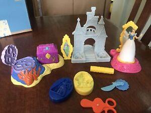 Disney Princesses Play Doh  Cinderella W Castle Aerial Shell Beast & Bell Mold