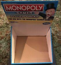 Monopoly Gamer Power Pack Empty Display Box - Nintendo - Rare !!