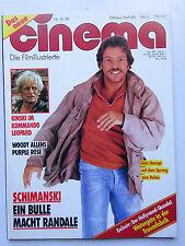 Cinema Nr 89, vom Oktober 1985, Inhaltsverzeichnis siehe Foto, Klaus Kinski